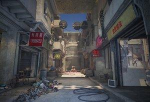 ancient city alley 3D