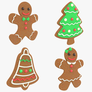 3D gingerbread christmas cookie pack