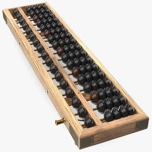 vintage soroban abacus 3D model
