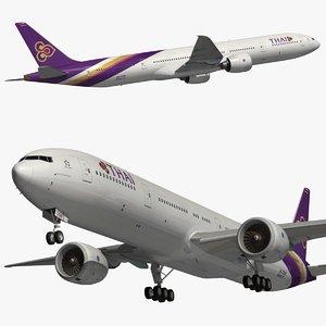 3D boeing 777 thai airways