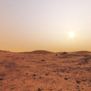 3D mars environment landscape