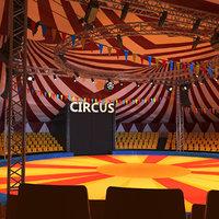 Circus Interior And Exterior
