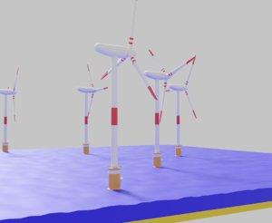 3D offshore wind turbine model