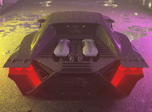 3D car cyberpunk vehicle