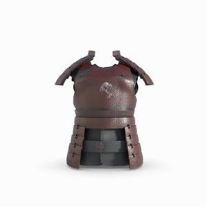 3D redshift armor samurai