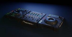 pioneer dj black 3D