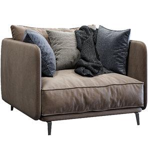 3D model armchair k2 arflex