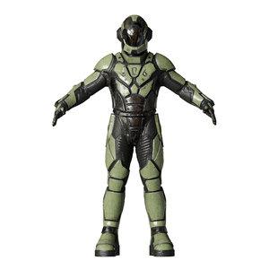 3D model space suit