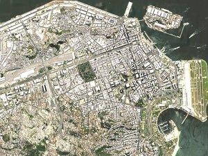 3D rio janeiro brazil cityscape