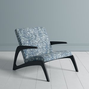 occasional armchair fabric 3D model