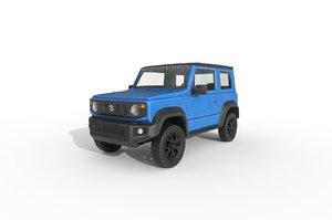 3D car: suzuki jimny sierra model