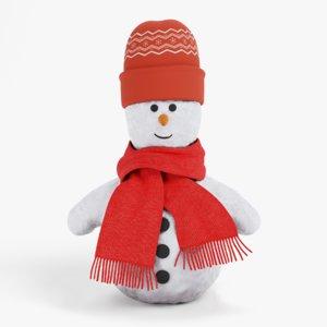 stylized snowman 3D