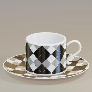 3D cup pattern