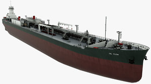 3D tanker oil vessel ship model