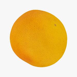 3D grapefruit 02 raw scan model
