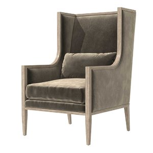 chair french contemporary slope 3D model
