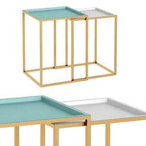 3D model nesting tables fms