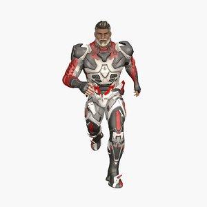 zeus cyber soldier 3D model