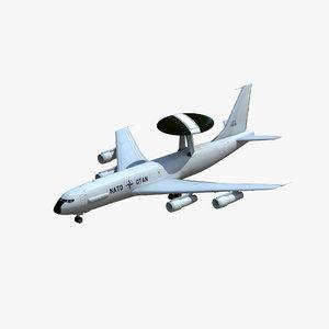 3D e-3 sentry awacs model