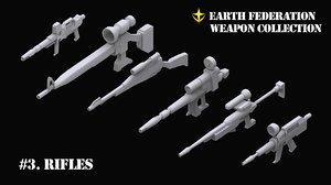 3D gundam ef weapon 3