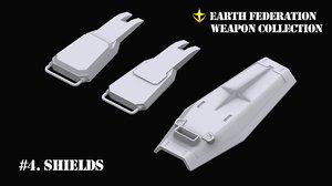 3D gundam ef weapon 4 model