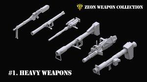 3D gundam zeon weapon 1