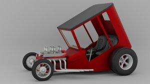 3D custom hot rod uncertain-t model