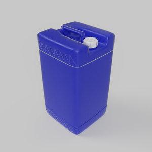 plastic gallon 3D model