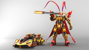 wukong transformer 3D model
