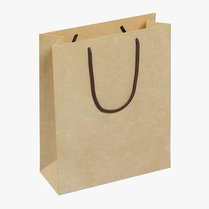 3D paper bag 01 model