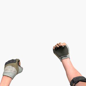 3D model hand weapons