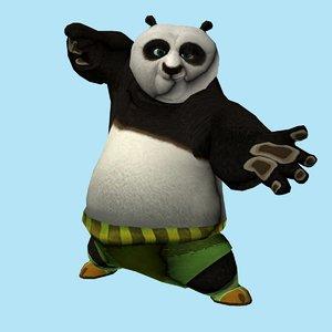 3D animal mammals panda model