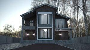 3D garden house exterior