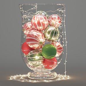 3D christmas decoration vase