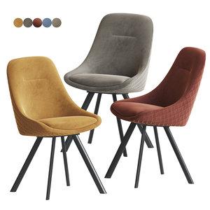 3D daniel swivel dining chair