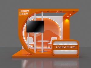 Booth exhibition 6 sqm