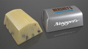 3D model hershey s nugget cookies