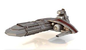 combat spacecraft model