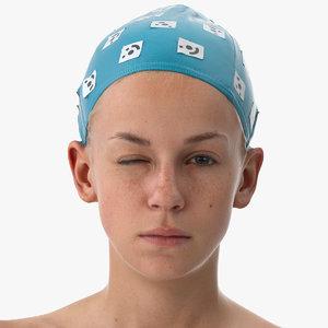 3D model rhea human head win