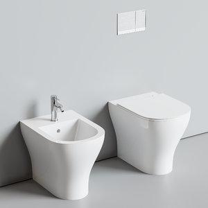 3D model toilet hatria beat bidet