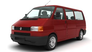 classic 1998 volkswagen transporter 3D model