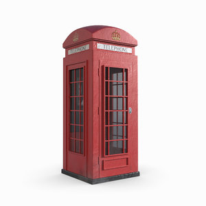 3D redshift red phone box