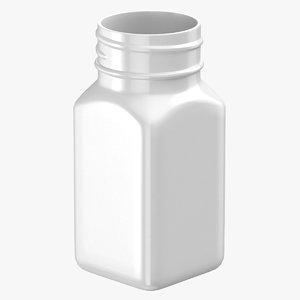 3D plastic square bottle 2oz model