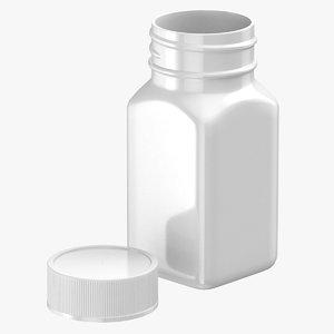 3D plastic square bottle 2oz