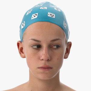 rhea human head eyes 3D model