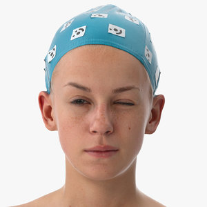 3D rhea human head win model