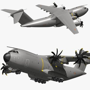 3D model airbus a400m spanish air force