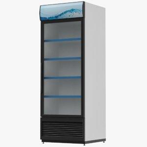 3D beverages refrigerator display