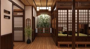 3D model japanese room interior