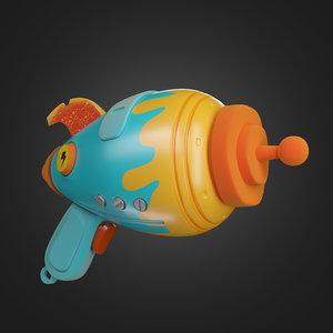 3D cartoon gun
